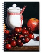 Still Life 'preserve Pot And Fruit' Spiral Notebook
