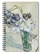 Still Life, Vase Of Carnations Spiral Notebook
