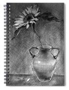 Still Life - Vase With One Sunflower Spiral Notebook