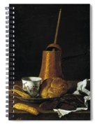 Still Life With A Chocolate Service Spiral Notebook
