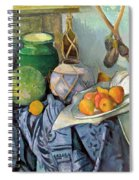 Still Life With A Ginger Jar And Eggplants Spiral Notebook