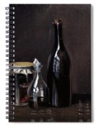 Still Life With A Jellyjar A Carafe And A Bottle Of Wine Spiral Notebook