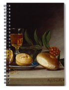 Still Life With A Wine Glass Spiral Notebook