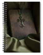 Still Life With An Old Book And Cross Pendant Spiral Notebook