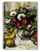 Still Life With Anemones And Fruit Spiral Notebook