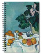 Still Life With Apples And A Pot Of Primroses, 1890 Spiral Notebook