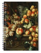Still Life With Apples And Grapes Spiral Notebook