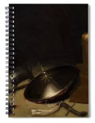 Still Life With Armor Shield Halberd Sword Leather Jacket And Drum Spiral Notebook