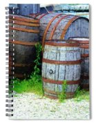 Still Life With Barrels Spiral Notebook