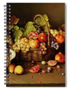 Still Life With Basket And Pomegranate Spiral Notebook