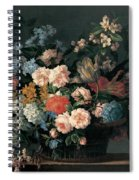 Still Life With Basket Of Flowers Spiral Notebook