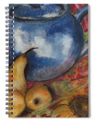 Still Life With Blue Teapot One Spiral Notebook