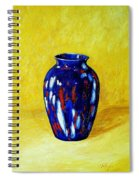 Still Life With Blue Vase Spiral Notebook
