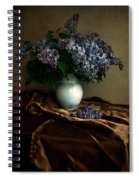 Still Life With Bouqet Of Fresh Lilac Spiral Notebook