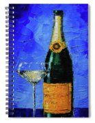 Still Life With Champagne Bottle And Glass Spiral Notebook