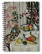 Still Life With Daisies And Fruit Spiral Notebook