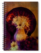Still Life With Daisies And Grapes - Oil Painting Edition Spiral Notebook