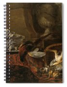 Still Life With Dead Game And A Silver Tureen On A Turkish Carpet Spiral Notebook