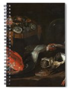 Still Life With Fish And Oysters  Spiral Notebook