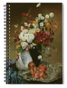 Still Life With Flowers And Pomegranates Spiral Notebook