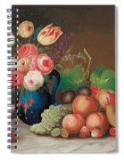 Still Life With Fruit And Flowers Spiral Notebook