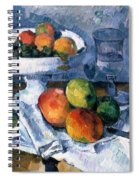 Still Life With Fruit Dish Spiral Notebook