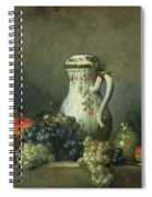 Still Life With Grapes And Pomegranates Spiral Notebook
