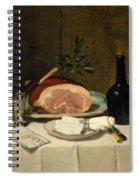 Still Life With Ham Spiral Notebook