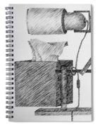 Still Life With Lamp And Tissues Spiral Notebook
