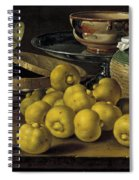 Still Life With Lemons And A Pot Of Honey Spiral Notebook