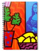 Still Life With Matisse And Mona Lisa Spiral Notebook