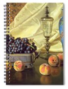 Still Life With Peaches Spiral Notebook
