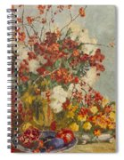 Still Life With Pink Flowers Spiral Notebook