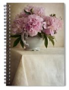 Still Life With Pink Peonies Spiral Notebook