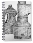 Still Life With Popcorn Maker And Laundry Soap Bottle Spiral Notebook