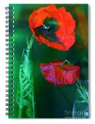 Still Life With Poppies. Spiral Notebook