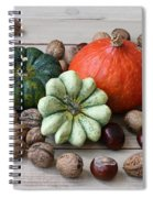 Still Life With Products Of Autumn Spiral Notebook