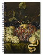 Still Life With Red Black And Green Grapes Spiral Notebook