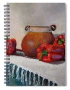 Still Life With Red Peppers Spiral Notebook