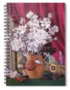 Still Life With Roses And Books Spiral Notebook