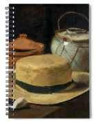 Still Life With Straw Hat, By Vincent Van Gogh, 1881, Kroller-mu Spiral Notebook