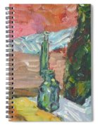 Still Life With Three Bottles Spiral Notebook