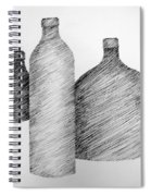 Still Life With Three Bottles Spiral Notebook