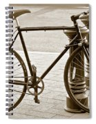 Still Life With Trek Bike In Sepia Spiral Notebook