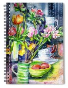 Still Life With Tulips And Apple Blossoms  Spiral Notebook