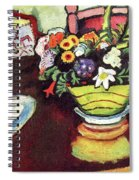 Still Life With Venison And Ostrich Pillow By August Macke Spiral Notebook