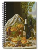 Still Life With Wine And Fruit Spiral Notebook