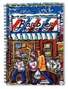 Stilwell's Candy Stop Winterscene Painting For Sale Montreal Hockey Art C Spandau Snowy Barber Shop Spiral Notebook
