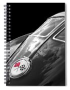 Stingray Split Window 1963 In Black And White Spiral Notebook