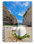 Stinva Bay Beach Summer View Spiral Notebook